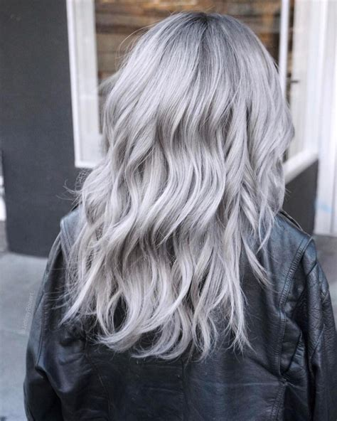 silver gray hair color icy silver hair transformation is the 2019 s coolest trend