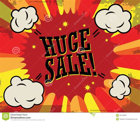 huge sale label royalty free stock photos image 35150568