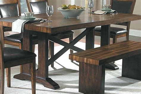 Picnic Table Style Dining Set Coma Frique Studio Dining Room Picnic Table