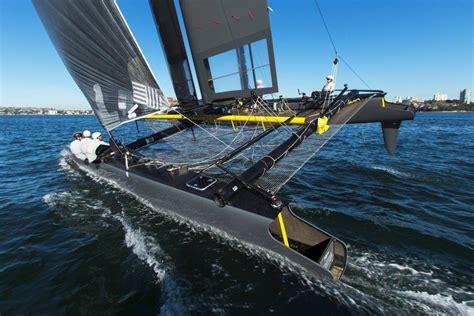 sailboat speed ac45 sail catamaran in action yacht charter superyacht