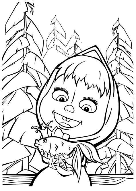 coloring pages masha and bear 13 printable masha and the bear coloring pages print
