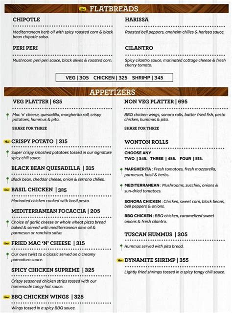 Pizza Kitchen Menu by California Pizza Kitchen Menu Menu For California Pizza