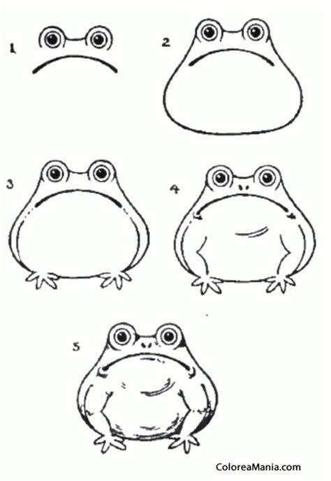 imagenes de sapos faciles para dibujar colorear como dibujar un sapo como dibujar una rana