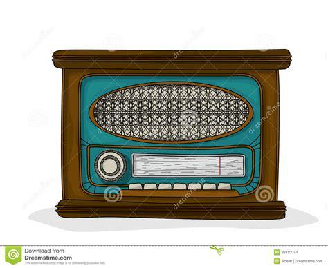 retro drawing retro cartoon radio stock image image 32193341