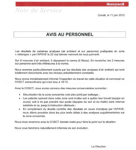 Exemple De Lettre Note D Information Modele Note De Service Pour Le Personnel Document