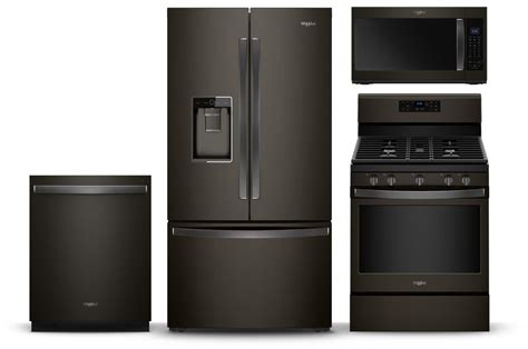 matte appliances fingerprint resistant black stainless steel matte black kitchen appliances whirlpool