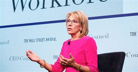 betsy devos job betsy devos on preparing youth for future jobs wsj