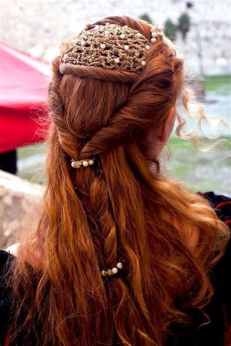 renaissance hairstyles images medieval hair braid and ornament beauty makeup and