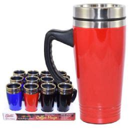 24 units of coffee mug stainless steel with handle at 24 units of coffee mug stainless steel with handle at