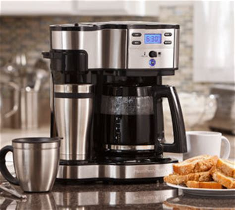 Hamilton Beach 49980C 2 Way Programmable Single Serve Coffee Maker, Black and Stainless Steel