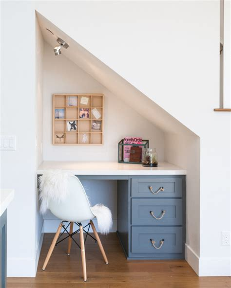 The Stairs Desk by Modern New Construction House Ideas Home Bunch