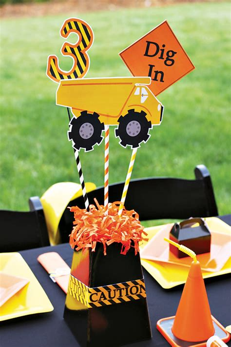 creative construction themed birthday loads of