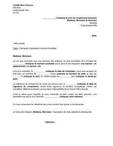 Modèles De Lettres Administratives Pdf Modele Attestation Bancaire Document