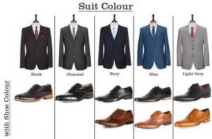 From slaters shows you what colour shoes go with what colour suits