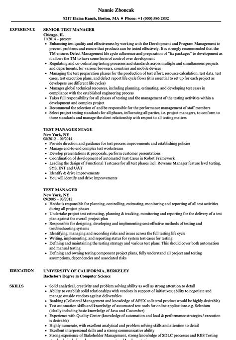 test manager resume sles test manager resume sles velvet