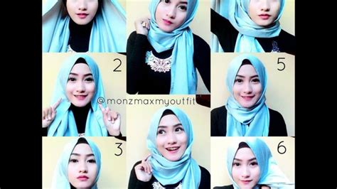 Youtube Tutorial Hijab Pesta Pashmina | 20 cara memakai hijab pashmina simple dan modis elegantria