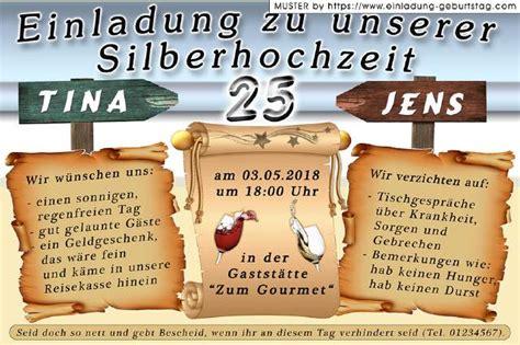 Einladung Silberhochzeit by Die Originelle Einladung Zur Silberhochzeit