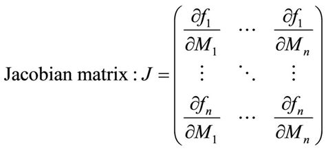 eigenvalues  jacobian matrices report  steps