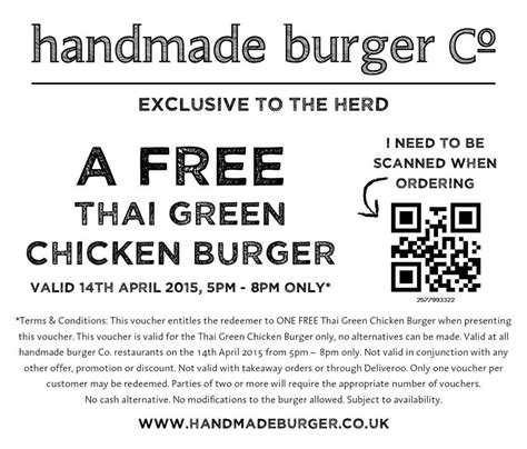 Handmade Burger Discount - discounts freebies and more sarapaulandbaby