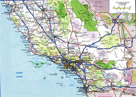 california state road map map of south californiafree maps of us