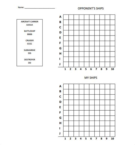 Battleship Game In Excel 171 The Best 10 Battleship Games Battleship Template
