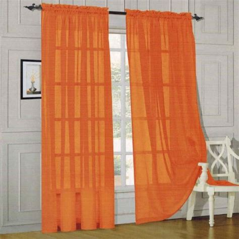 60 inch length curtains elegant comfort 2 piece solid sheer panel with rod pocket