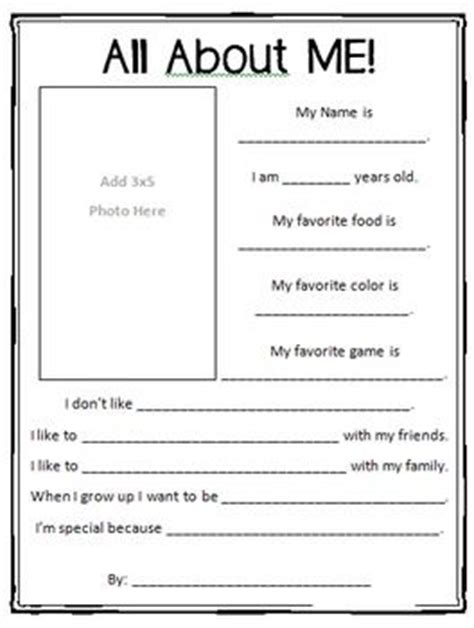 printable questionnaire about yourself 17 best ideas about all about me questions on pinterest