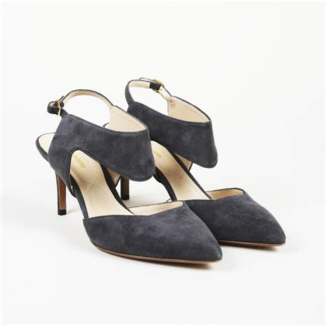 lyst nicholas kirkwood gray suede pointed pumps  gray