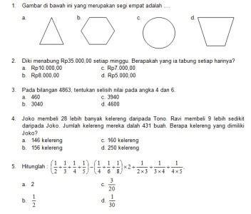 Latihan Matematika Nalaria Realistik Tingkat Sd Edisi 1 latihan soal matematika nalaria realistik paket 10 untuk kelas 3 4 republika