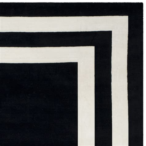 black rug with white border rug rlr4151a fitzgerald border ralph area rugs by safavieh