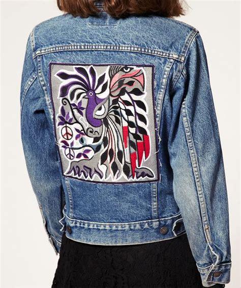 Jaket Baseball Denim denim jacket back patch embroidery jackets and denim jackets