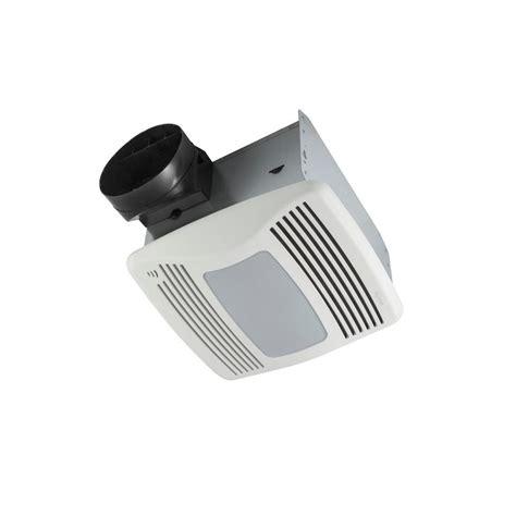 nutone qtxen series  quiet  cfm ceiling humidity sensing fan  lightnight light
