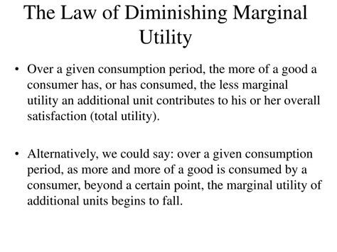 the law of diminishing expectations ppt the consumer theory powerpoint presentation id 227168