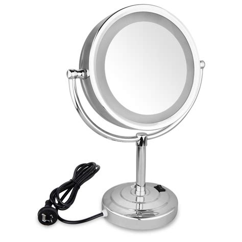 Magnifying Vanity Mirrors Bathroom 8 5 Inch Side Makeup Magnifying Bathroom Mirror With Led Light 10x Ebay