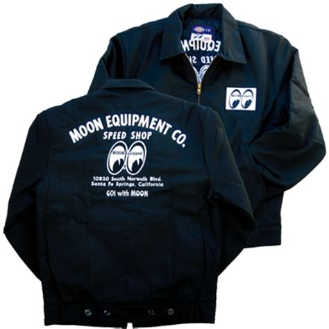 werkstatt jacke moon equipment co speed shop dickies jacket mooneyes apparel