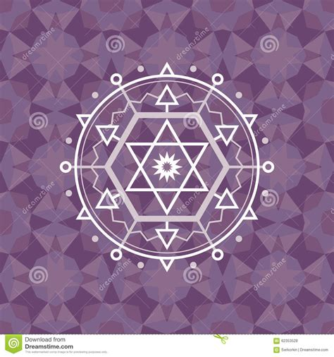 abstract geometric design elements vector sacred geometry sign on geometric abstract background