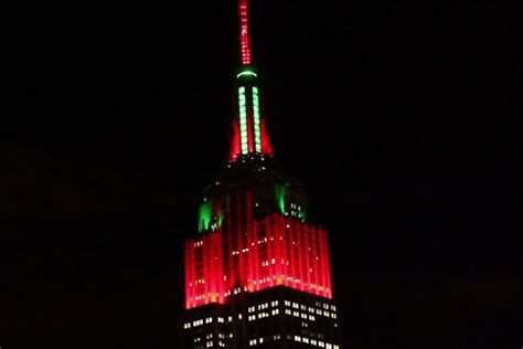empire state building christmas light show 2014