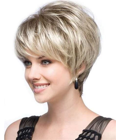 short off face hairstyles best and cute haircut for round faces and thin hair of