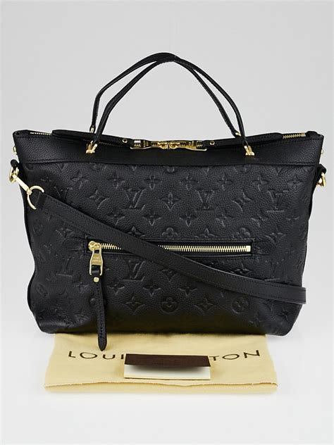 louis vuitton black monogram empreinte leather bastille pm