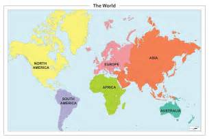 World Continents Map by Pics Photos Map Of The World Continents