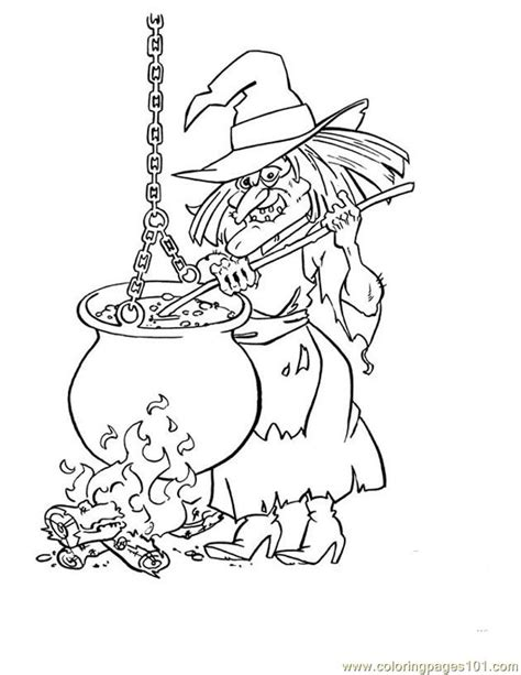 witch cauldron coloring page coloring pages cauldron witch holidays gt halloween