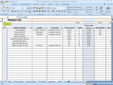 Descargar Control Almacen En Excel En Portalprogramas | descargar control almacen en excel en portalprogramas