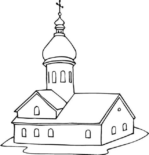 easy church coloring pages free church coloring pages