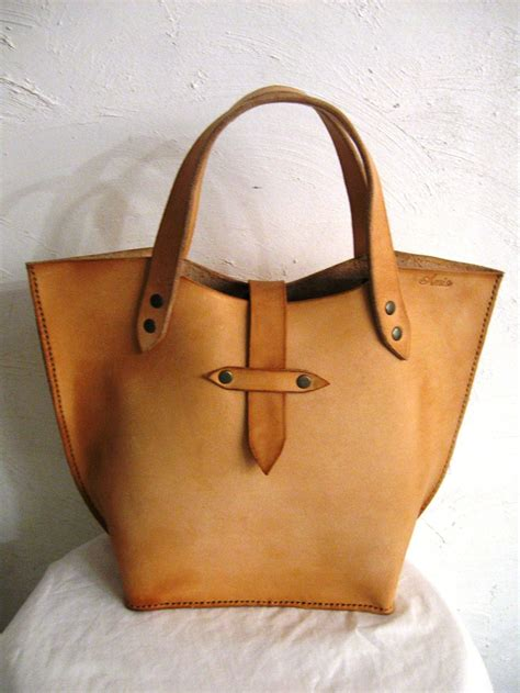 Handmade Tote Bags - handmade italian leather bags collection in brown color