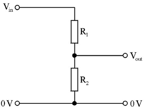 resistor in voltage divider potential dividers mrcorfe