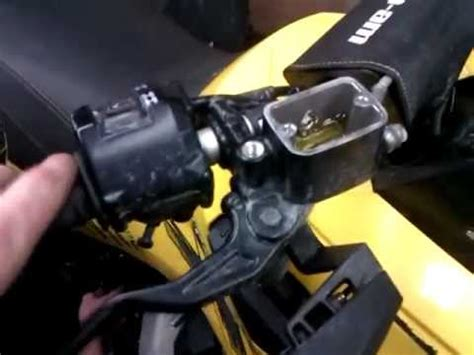 can am renegade brake lever reversal mod. left lever front