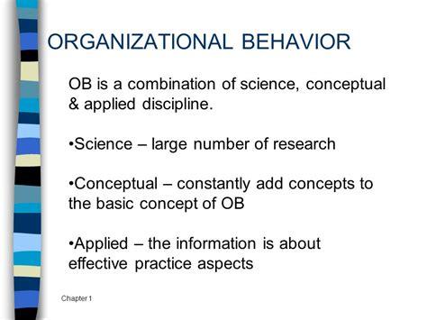 Research In Organizational Behavior 1 organizational behavior ppt