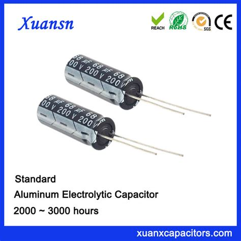 aluminum electrolytic capacitor mtbf standadrd 68uf200v aluminum electrolytic capacitor
