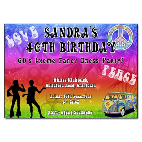 60s theme party guide party ideas home evite 60s psychedelic party invitation