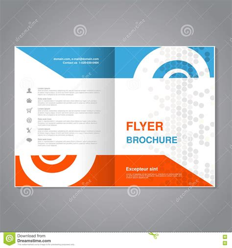 layout of flyer modern brochure abstract flyer with simple dotted design